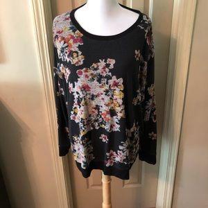 Maurice's flower design sweater size 2X